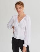 Nowa biała bluzka Cropp M 38 koszula wiskoza retro pin up elega...