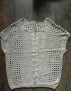 Sweter ażurowy beżowy XS 34...