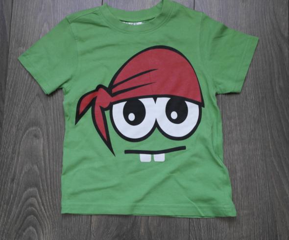 Bluzeczka zielona z oczami 104 110