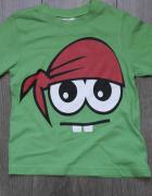 Bluzeczka zielona z oczami 104 110...