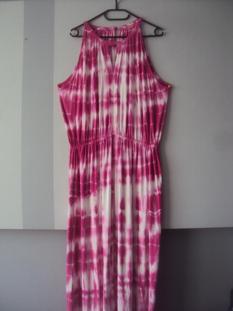 cieniowana sukienka maxi...