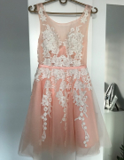 Sukienka pudrowy róż...