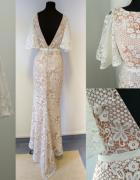JARLO Suknia balowa koronkowa