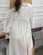 Biała sukienka maxi...