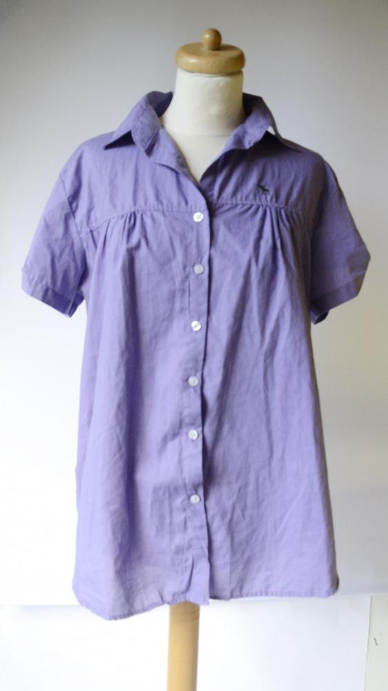 Koszula 48 4XL Fioletowa Abercrombie&Fitch Elegancka...