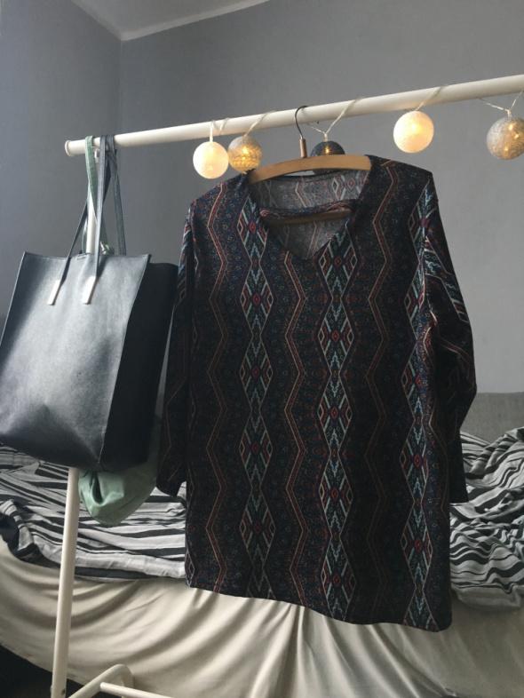 Bawełniana bluzka we wzorki