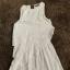 Biała przewiewna sukienka Zara S