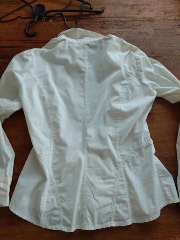 Biała bluzka koszulowa na długi rękaw Orsay
