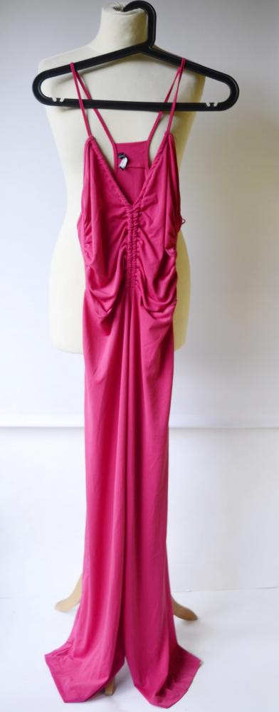 Kombinezon Różowy M 38 Zara Proste Nogawki Fuksja Róż