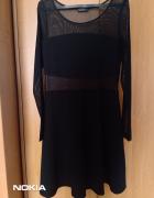 Sukienka gothic czarna z siateczką rozm 40L
