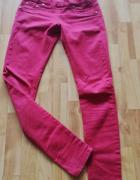 czerwone rurki skinny jeansy S treggginsy 36