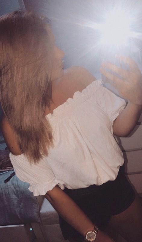 Biała bluzka hiszpanka S M