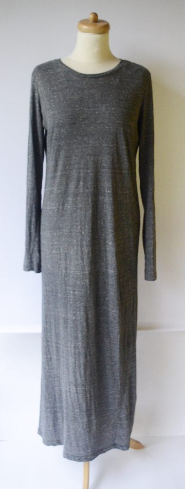 Sukienka Monki M 38 Melanż Długa Long Szara Maxi Prosta