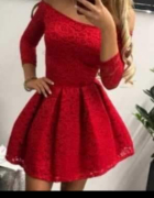 Sukienka czerwona koronkowa lou...