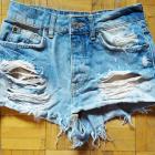 34 XS BERSHKA krotkie sexy spodenki jeansowe dzinsowe