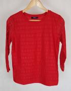 Nowa czerwona bluzka z koronkowymi rękawami Reserverd M...