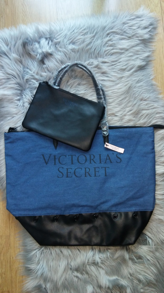 Torebka torba Victoria Secret jeansowa