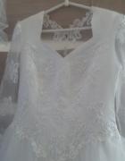 suknia ślubna długa biała...