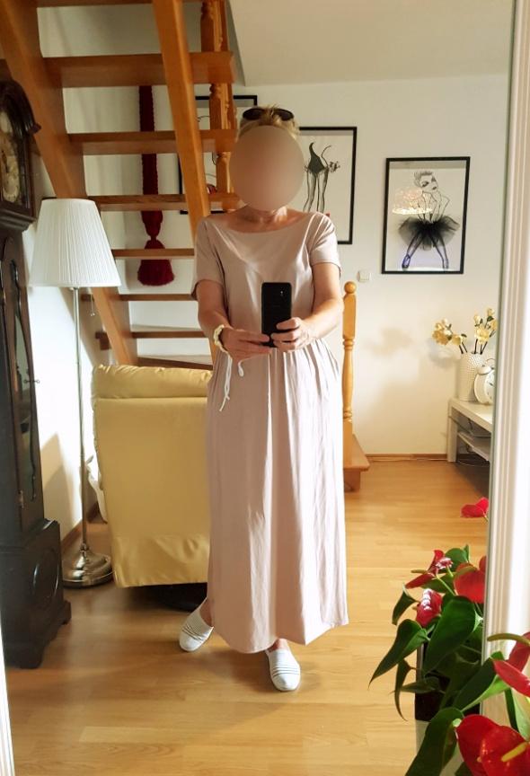 Sukienka maxi z kieszeniami oversize będzie dobra na 44 46 48