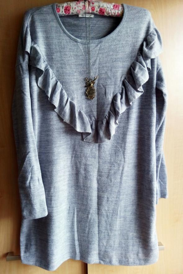 Suknie i sukienki Szara sweterkowa sukienko tunika M L XL XXL