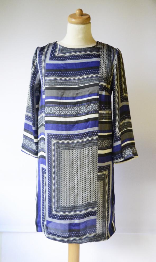 Sukienka Wzory H&M S 36 Boho Prosta Elegancka...
