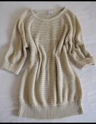 Beżowy sweter Peacocks rozmiar 42 XL rękaw za łokieć...