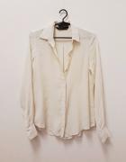 Zara Woman koszula 100 rayon ecru kremowa klasyczna 34 XS...