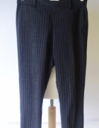 Spodnie Granatowe Paski H&M M 38 Paseczki Wizytowe...