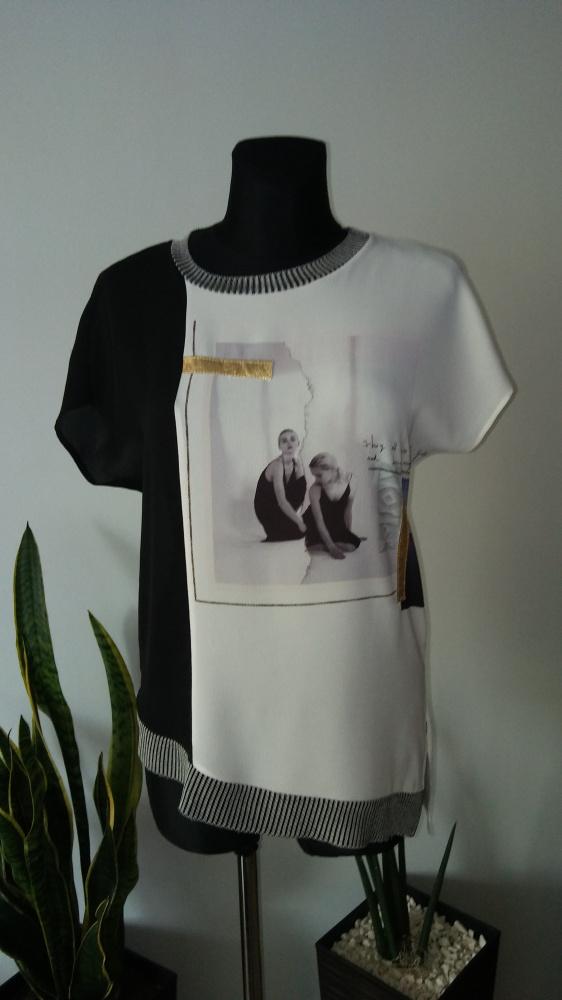 Bluzka asymetryczna Zara