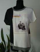 Bluzka asymetryczna Zara...