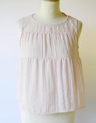 Bluzka H&M Pudrowy Róż S 36 Różowa Elegancka Wiązana...