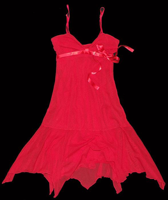 Suknie i sukienki niespotykana czerwona sukienka komunia ślub