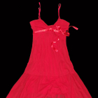 niespotykana czerwona sukienka komunia ślub