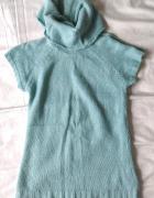 Sweter tunika pistacjowy Reserved golfik...