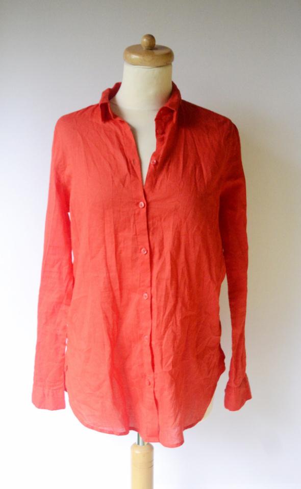 Koszula Czerwona H&M Divided Bawełna Oversize S 36