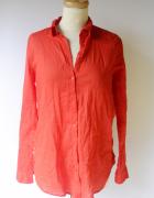 Koszula Czerwona H&M Divided Bawełna Oversize S 36...