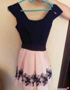 Piękna rozkloszowana sukienka idealna na wesele...