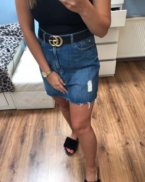 Spódnica jeansowa M L