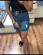 Spódnica jeansowa M L...