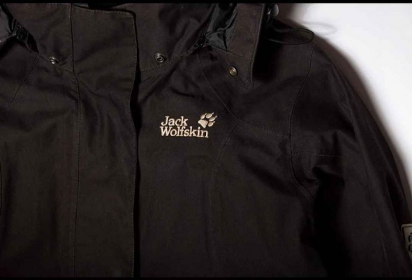 Czarna kurtka parka outdoor Jack Wolfskin Queens Coat XS...
