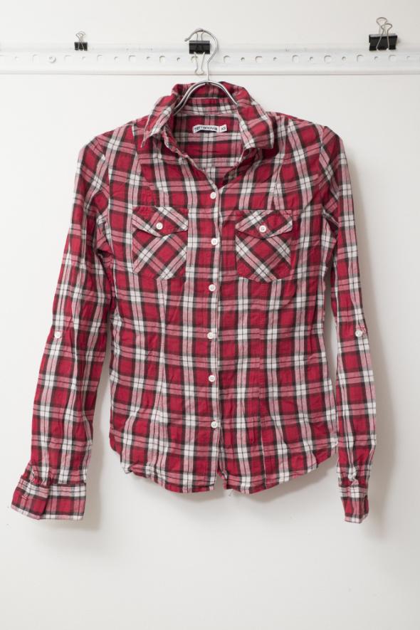 Koszule damska bluzka w kratkę