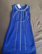 Chabrowa Sukienka ze złotą aplikacją 38 M