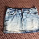 Spódnica JEANS mini 38 M