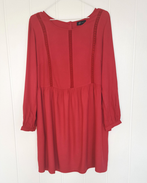 Nowa sukienka Reserved 42 XL czerwona krótka retro babydoll baby doll