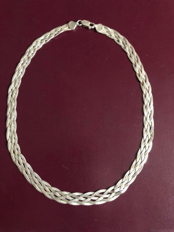 Przepiękna srebrna kolia 925