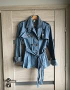 Kurtka katana jeans Gina Tricot S M nowa piny przypinki pilotka