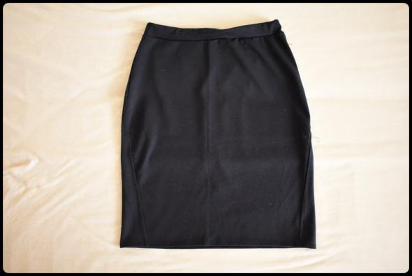 Granatowa spódnica ołówkowa na gumce rozmiar 38 M