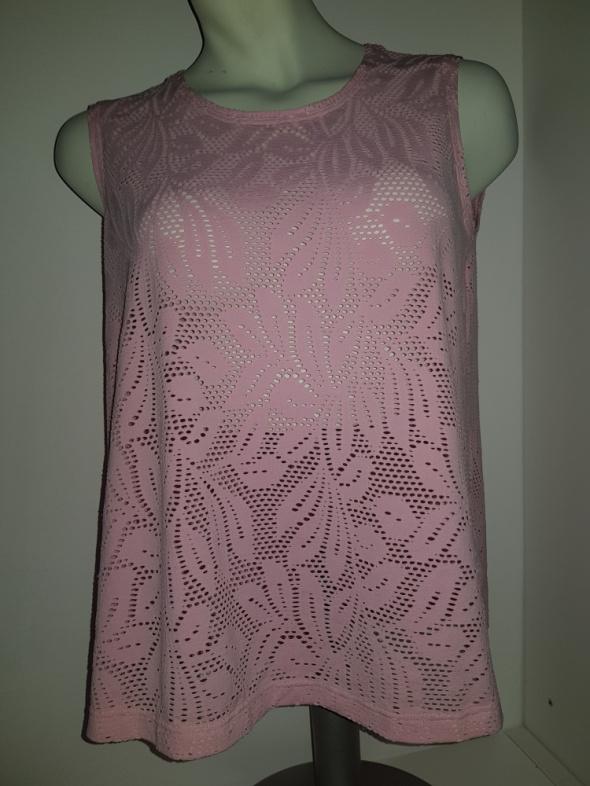 Ażurowa bluzeczka różowa 5XL