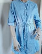 Jeansowa sukienka z paskiem...