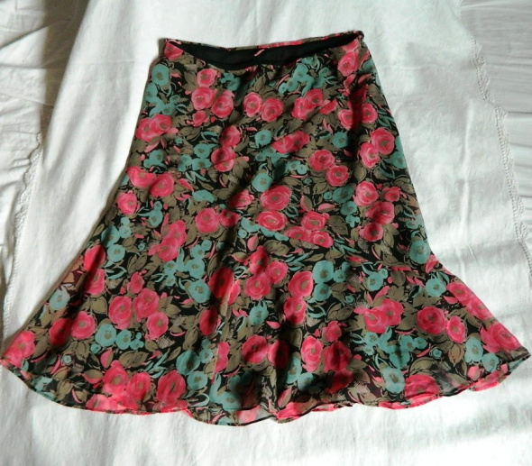 Spódnice Casual Corner Annexkolorowa spódniczka w kwiaty róże